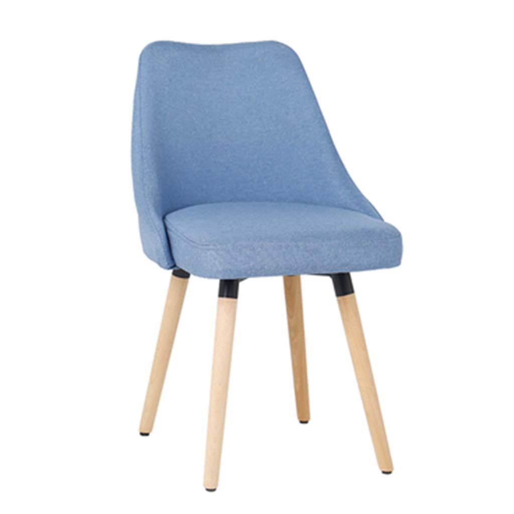 bluee 434385cm Dining Chairs Chair Dining Chair Makeup Chair Coffee Chair Home Office Chair Study Chair Negotiate The Chair Chair Fabric Lounge Chair Solid Wood Chair Dining Chairs
