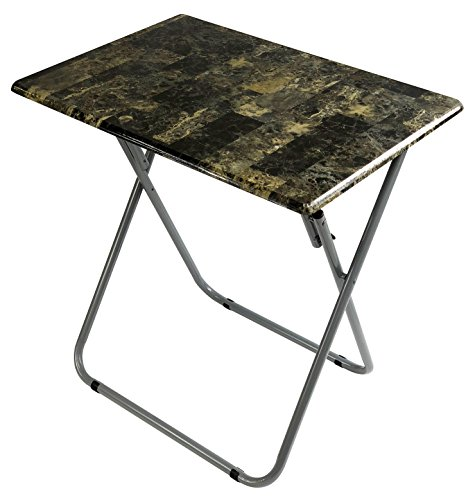 Wee's Beyond 1307 Over-Sized TV Tray Folding Table, Marbleized