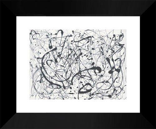 Jackson Pollock Framed Art Print 15x18