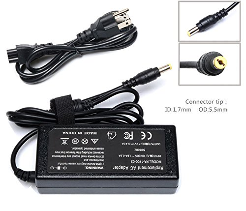 65w Ac Adapter Charger - 65W AC Adapter Laptop Charger for Acer Lcd Monitor S202HL S230HL S231HL S232HL H236HL G246HL H276HL G276HL G236HL S240HL S220HQL S271HL H226HQL G226HQL S202HL S241HL HN274H