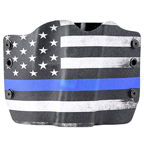 Thin Blue Line OWB Holster (Right-Hand, Springfield 1911 MC Operator with Rail)