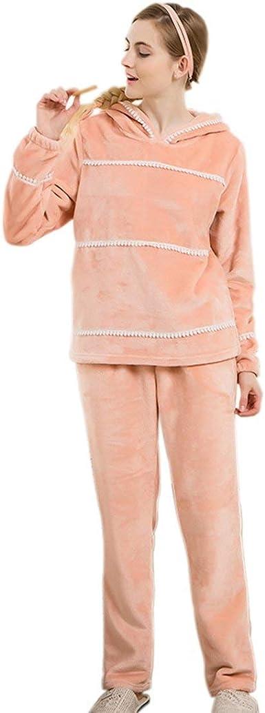 Pijama Mujer Elegantes Moda Coral Fleece Pijamas Mujer Set 2 ...