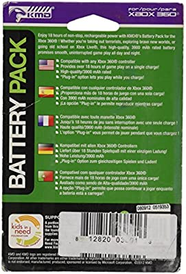 KMD 360 Rechargeable Battery Pack White Komodo Xbox 360