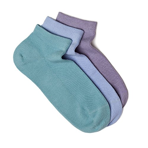 Women's Low Cut Socks, 3 Pairs Pack. Seamless Fit, Fine Combed Cotton, Reinforced Sole by iNicety