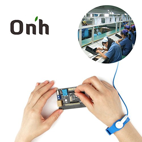 Grounding Kit Wires - Onh anti static wrist strap Components Grounding esd straps cable wrist with Adjustable Electronics Computers Repair Tool Kits blue 2.4m