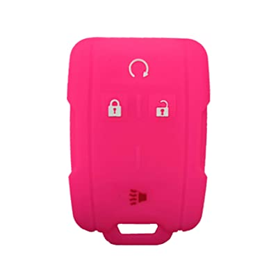 KAWIHEN Silicone Key Fob Case Cover Protector For 2014 2015 2016 2020 Chevrolet Chevy Silverado Colorado Tahoe Suburban Gmc Yukon Sierra 13577770 2288148 M3N-32337100: Automotive