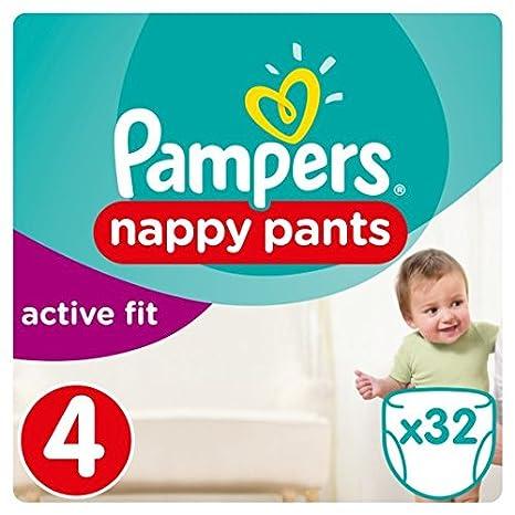 Pampers Active Fit tamaño de los pantalones 4 esenciales Pack 32 Pañales
