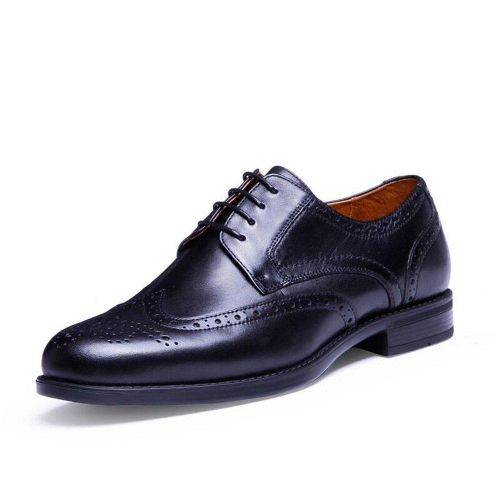 GUOPIN Leder Herrenschuhe, Herrenschuhe, Herrenschuhe, Freizeitschuhe Große Größe Herrenschuhe, Herrenschuhe Formale Schwarze Lederstiefel, Stilvolle Arbeit Bequeme Schuhe,schwarz,39 e343e1