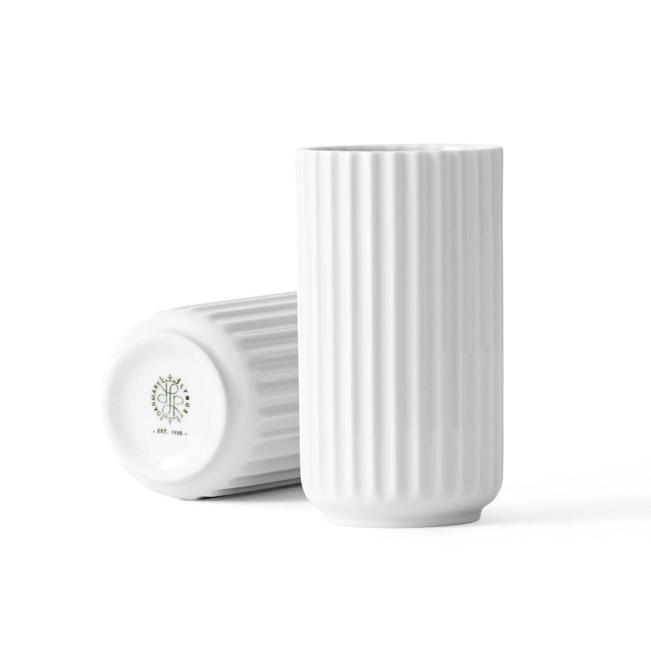 Lyngby Porcelaen - Lyngby Vase - Blumenvase - weiß - Porzellan Ø 8 cm Höhe 15 cm