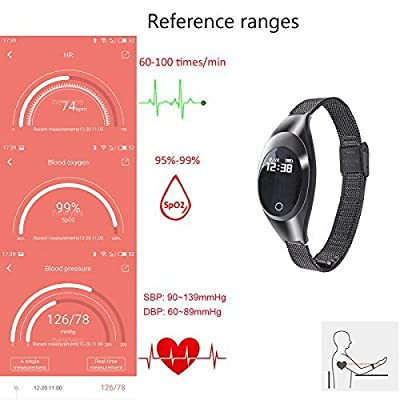 NEWYES NBS06 Blood Pressure Smart Watch Lady Fitness Tracker Woman Smart Bracelet with SPO2H Heart rate monitor Sleep Management Pedometer for Android IOS Smartphone