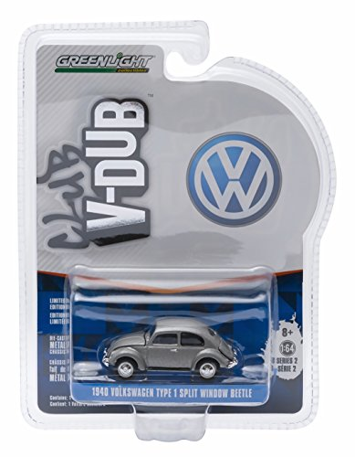1940 VOLKSWAGEN TYPE 1 SPLIT WINDOW BEETLE (Pearl Grey) * Club V-Dub * Series 2 Greenlight Collectibles 2015 Limited Edition Vee-Dub 1:64 Scale Die-Cast Vehicle