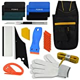 FOSHIO Vehicle Vinyl Wrapping Application Tool Kit for Car Window Tint Film Installing include Tool Bag, Zippy Cutter, Magnet Tape, Razor Scraper, Art knife, Squeegees and Gloves
