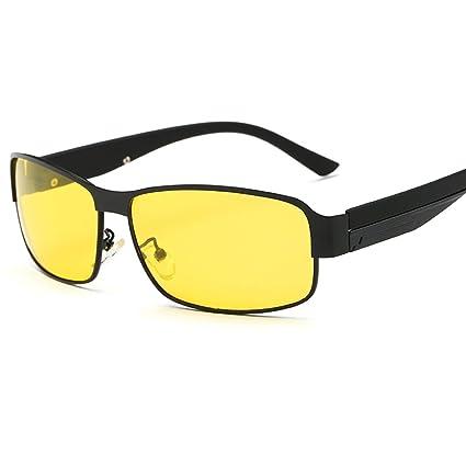 Gafas de Sol Gafas de Visión Nocturna Hombres Gafas Polarizadas Conductor de Personalidad Conducir Anti-