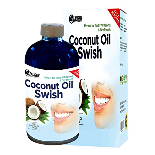 Coconut Oil Pulling and Mouthwash: Excellent for Teeth Whitening, Dry Mouth, & Oral Detox - Helps Resolve Bad Breath and Removes Tea & Coffee Stains on Teeth - Risk Free Money Back Guarantee
