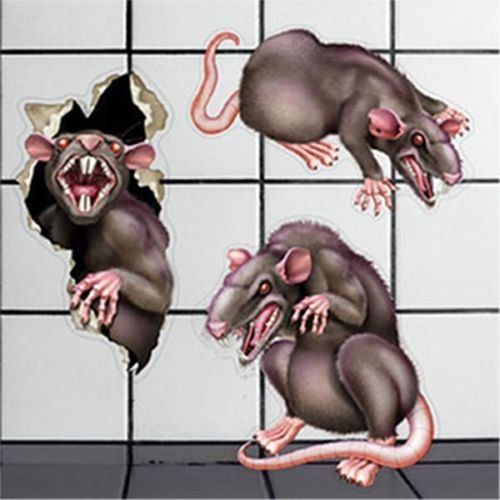 Halloween Rats Floor Cling