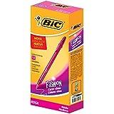 Caneta Cristal Fashion BIC, Rosa, pacote de 12