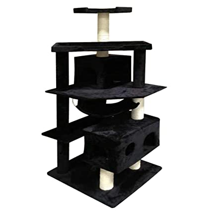 Miraculous Amazon Com Vidagoods 71 Black Tall Big Fat Cat Tree Condo Download Free Architecture Designs Scobabritishbridgeorg