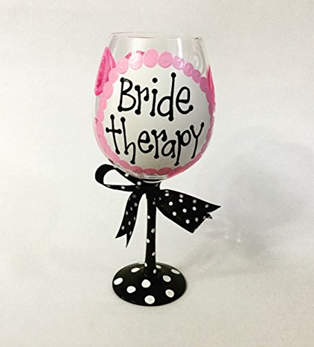 GIANT Bride Therapy Wine Glass--HOLDS ENTIRE BOTTLE OF ()