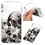 Galaxy S10E Case, Cover Soft TPU Rubber Skin Shock-Absorption Case Transparent Crystal Clear Slim Protective Shell for Galaxy S10E, Black Pattern
