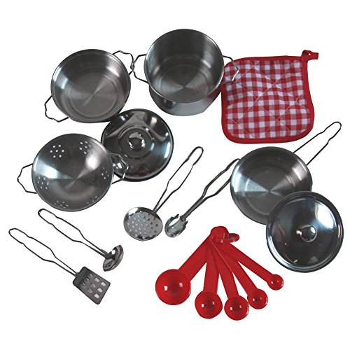 uptown-toys-stainless-steel-pretend-play-12-piece-gourmet-cookware-set
