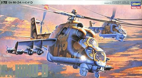 Hasegawa 1:72 MIL Mi-24 Hind-D Helicopter Plastic Model Kit #K20 - Mi 24 Hind Helicopter