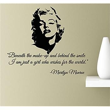 Amazoncom Audrey Hepburn Face Silhouette Vinyl Wall Art