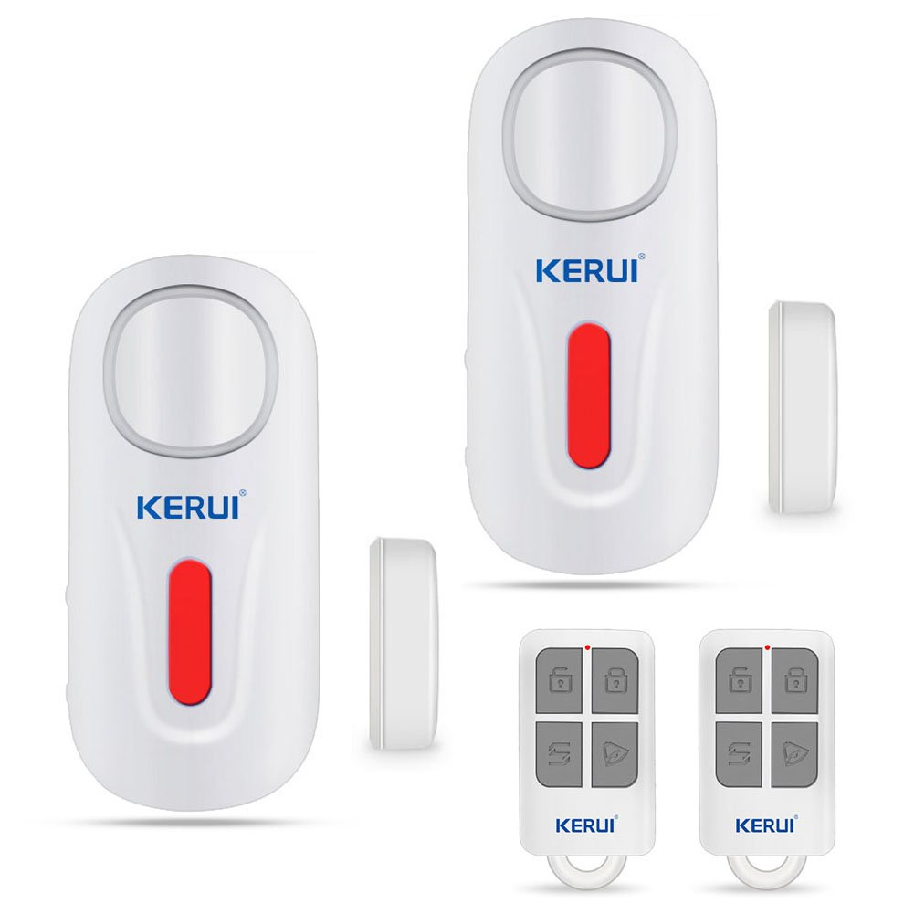 KERUI Door Window Alarm,D2 Remote Security Sensor System,Wireless DIY Magnetic Window Entry Contact Doorbell Easy Installation For Home Shop Company (2Pack) by GRANEYWELL