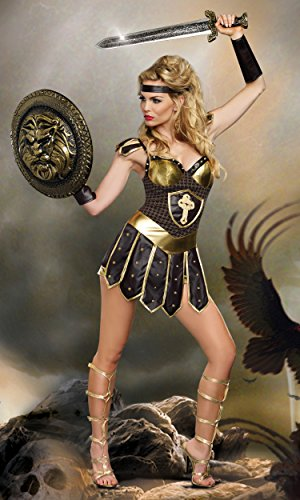 Kmart Halloween Costumes For Women (Dreamgirl Women's Queen Of Swords Warrior, Black,)