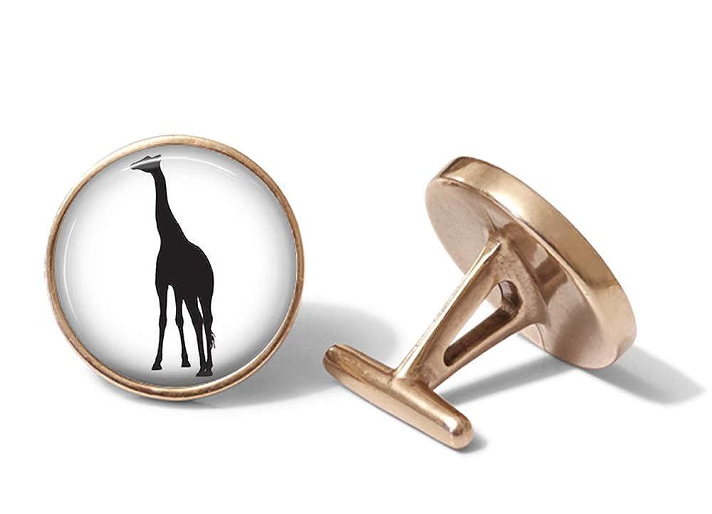 Oakmont Cufflinks Giraffe Cufflinks Giraffes Cuff Links Solid Bronze
