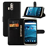 ZTE Axon Pro Case, Fettion Premium PU Leather Wallet Phone Cases Flip Cover with Stand Card Holder for ZTE Axon Pro Smartphone (Wallet - Black)