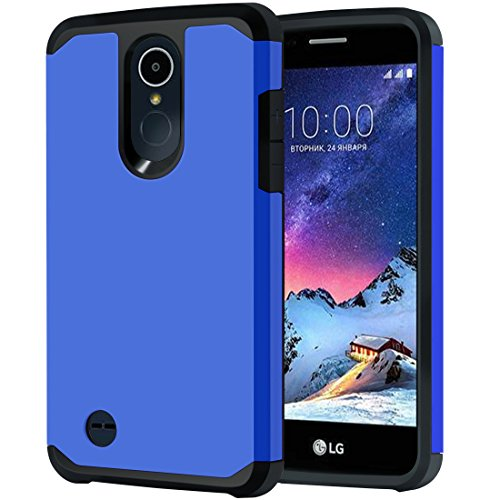 LG Tribute Dynasty Case, LG Aristo 2 Case, LG Rebel 3 LTE Case, LG K8 2018 Phone/Rebel 2/Phoenix 3/Fortune/Risio 2 Case, OEAGO Hybrid Shockproof Drop Protection Case Armor Cover (Blue)