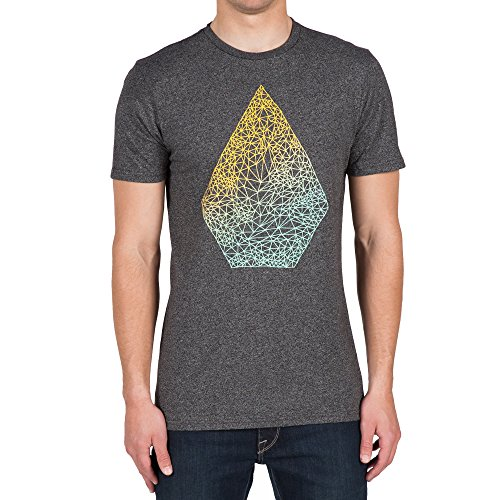 Woven T-shirt (Volcom Men's Stoney Short Sleeve T-Shirt, Heather Black,)