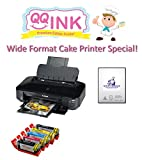 QQink Cake Wide Format Printer Bundle - Canon iX6820 Comes with Edible Ink & KopyKake Frosting Sheets