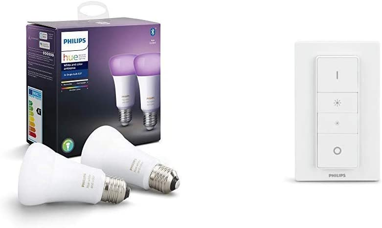 Philips Hue 2 Ampoules LED Connectées White & Color Ambiance E27 Compatible...