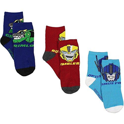 Transformers Boys 3 pack Crew Socks (6-8 (Shoe: 10.5-4), Transformers Crew 3 pk)