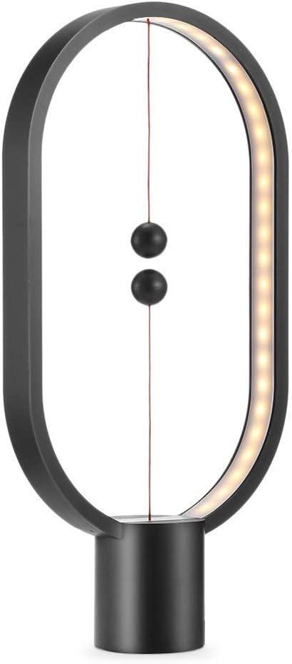 Caf/é B/üro Heng Balance Lampe magnetisch LED-Lampe Dekoration f/ür Haus Schwarz Balance-Leuchte Bar warmes Licht LED-Nachtlicht Schlafzimmer