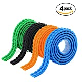 4 Rolls Building Blocks Tape Compatible With lego Tape Construction Self-Adhesive tape Black Green Orange Blue,