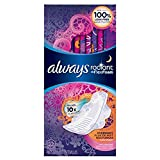 Always Radiant Overnight, Light Clean Scent, 22 Pads (Pack of 2)