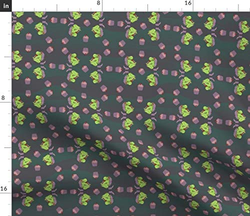 Spoonflower Zombies Fabric - Brains Cupcakes Halloween Unicorn by Costumewrangler Printed on Fleece Fabric by The -