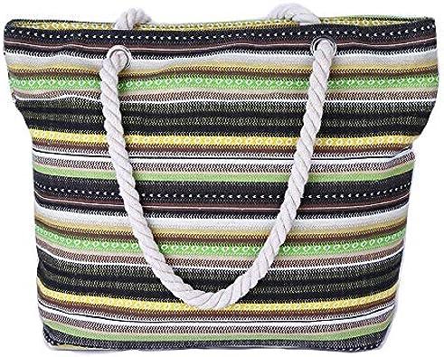 Bolsa de playa grande de verano para mujer, bolsa de lona