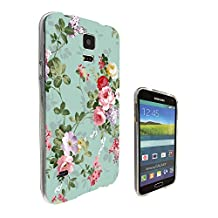 002432 - Floral Vintage Shabby Chic Roses Fleur Girly Cute Design Samsung Galaxy S5 / Galaxy S5 Neo Fashion Trend CASE Gel Rubber Silicone All Edges Protection Case Cover