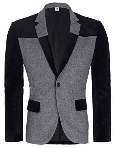 Mens+Fashion+Casual+One+Button+Sport+Coat+Blazer+Jacket+Size+M+PJ0026-1