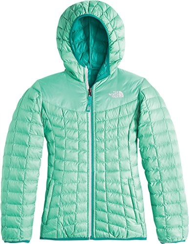The North Face Reversible ThermoBall Hoodie Girls Midlayer - Small/Ice Green by The North Face