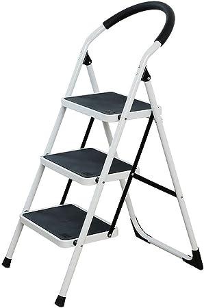 Peldaño de escalera Escalera de guardarropas Taburete de aleación de aluminio multifunción Escalera pequeña Escalera de espiga plegable para el hogar Soporte de flores Aluminio de doble uso: Amazon.es: Hogar