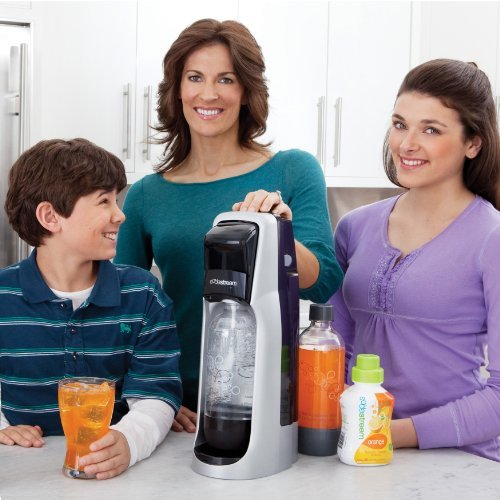 SodaStream Fountain Jet Home Soda Maker Starter Kit, Black and Silver