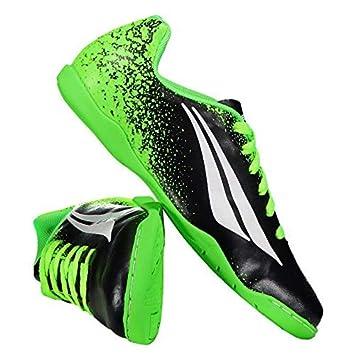 Chuteira Penalty Victoria VII Futsal Juvenil Preta e Verde  Amazon ... e2175227a40ff