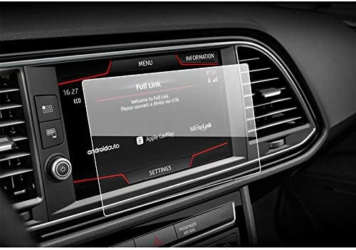 XHULIWQ カースクリーンプロテクターカーナビゲーションタッチスクリーン、強化ガラススクリーン保護フィルム、シートレオンX-ペリエンス8インチ用