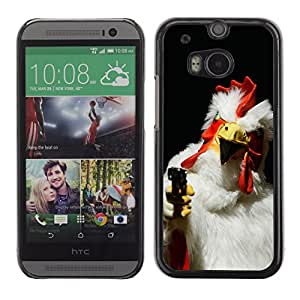 CaseCaptain Carcasa Funda Case - HTC One M8 / Killer Rooster /