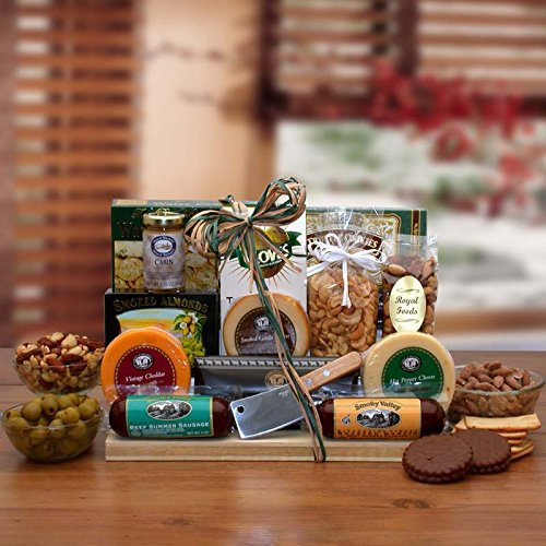 All Occasion Gift Ultimate Gourmet Nut & Sausage Board Gift For Him