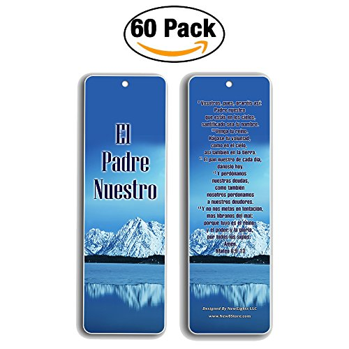 Spanish Bookmarks Padre Nuestro (60-Pack)- Español The Lord's Prayer Cards